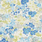 Harlequin Florica Grey / Blue Wallpaper
