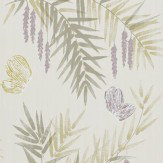 Harlequin Floret Heather / Linen Wallpaper