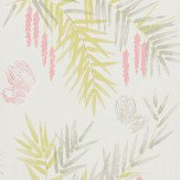 Harlequin Floret Pink / Taupe / Lemongrass Wallpaper