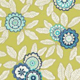 Harlequin Eden Indigo / Lime Wallpaper - Product code: 110679