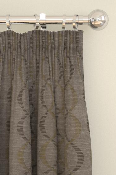 Clarke & Clarke Campden  Chartreuse Curtains