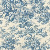Little Greene Stag Toile  Juniper Wallpaper
