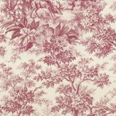 Little Greene Stag Toile  Burgundy Wallpaper - Product code: 0284SGBURGU