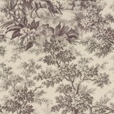 Little Greene Stag Toile  Chocolat Wallpaper