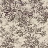 Little Greene Stag Toile  Chocolat Wallpaper