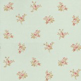Albany Roselle Toss Teal / Pink Wallpaper