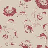 Albany Candide  Red Wallpaper