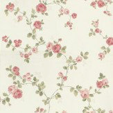 Albany Rose Trail Pink / Green Wallpaper