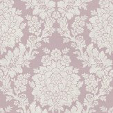 Albany Roselle Damask Lilac Wallpaper