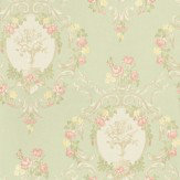 Albany Clairemont Damask Green Wallpaper