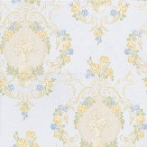 Albany Clairemont Damask Pale Blue Wallpaper