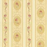 Albany Clairemont Stripe Gold Wallpaper