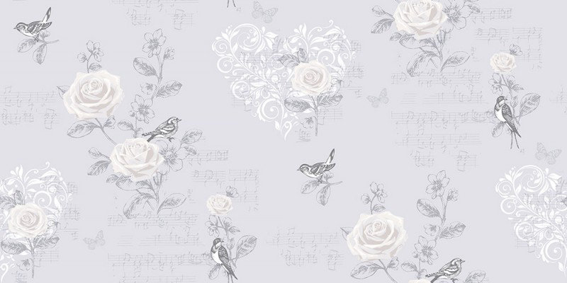 Image of Coloroll Wallpapers Jenny Wren French Grey, M0835