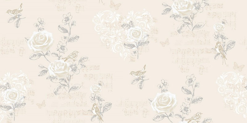 Image of Coloroll Wallpapers Jenny Wren Champagne, M0834