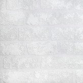 Anaglypta Lincolnshire Brick White Wallpaper