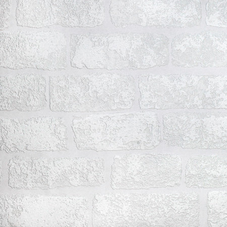 Anaglypta Lincolnshire Brick White Wallpaper - Product code: RD812