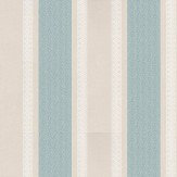 Osborne & Little Chantilly Stripe Taupe / Blue / White Wallpaper - Product code: W6595-03