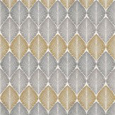 Osborne & Little Leaf Fall Metallic Silver / Gilver / Yellow Wallpaper - Product code: W6591-01