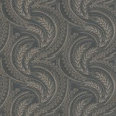 Osborne & Little Quill Black / Gilver Wallpaper - Product code: W6597-01