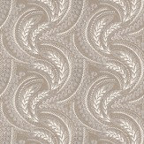 Osborne & Little Quill Ivory / Gilver Wallpaper