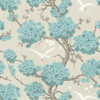 Osborne & Little Japonerie Turquoise / Ivory / Stone Wallpaper