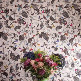 Osborne & Little Bird Song Taupe / Multi Wallpaper - Product code: W6596-01
