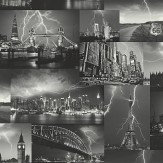 Albany Storm Black / White Wallpaper
