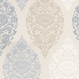 Prestigious Loriana Porcelain Blue / Cream / Taupe / Beige Wallpaper - Product code: 1612/047