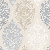 Prestigious Loriana Porcelain Blue Cream Taupe Beige Wallpaper Main Image