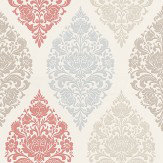 Prestigious Loriana Vintage Red / Blue / Taupe / Cream Wallpaper