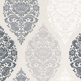 Prestigious Loriana Dove Black / Grey / White / Taupe Wallpaper - Product code: 1612/903