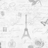 Albany Calligraphy Soft Grey Wallpaper