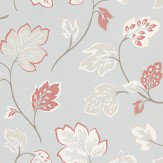 Prestigious Fontaine Vintage White / Grey / Coral Wallpaper - Product code: 1610/284