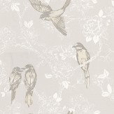 Prestigious Songbird Chalk Chalk / White Wallpaper - Product code: 1616/076