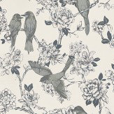 Prestigious Nightingale Silk Grey / Off White Wallpaper