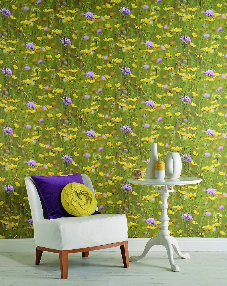 Albany Meadow Green Wallpaper - Product code: 97950
