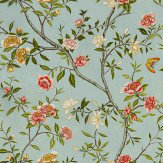 Zoffany Nostell Priory  Sky/Pink Wallpaper