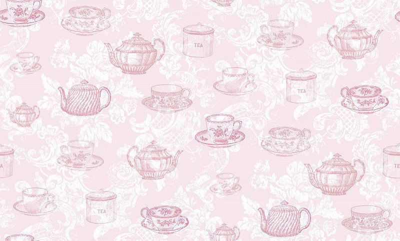 Image of Coloroll Wallpapers Teacups Pink, M0840