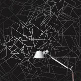 Erica Wakerly Angles Black / Silver Wallpaper