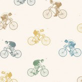 Linwood On Yer Bike Off White Wallpaper