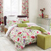 Sanderson Spring Flowers Single Duvet Pink Duvet Cover