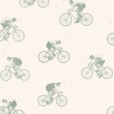 Linwood The Tour Duck Egg / Off White Wallpaper