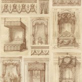 Linwood King Louis Sepia Wallpaper - Product code: LW40/1
