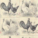 Linwood Chicken Run Black / White Wallpaper - Product code: LW1457/1