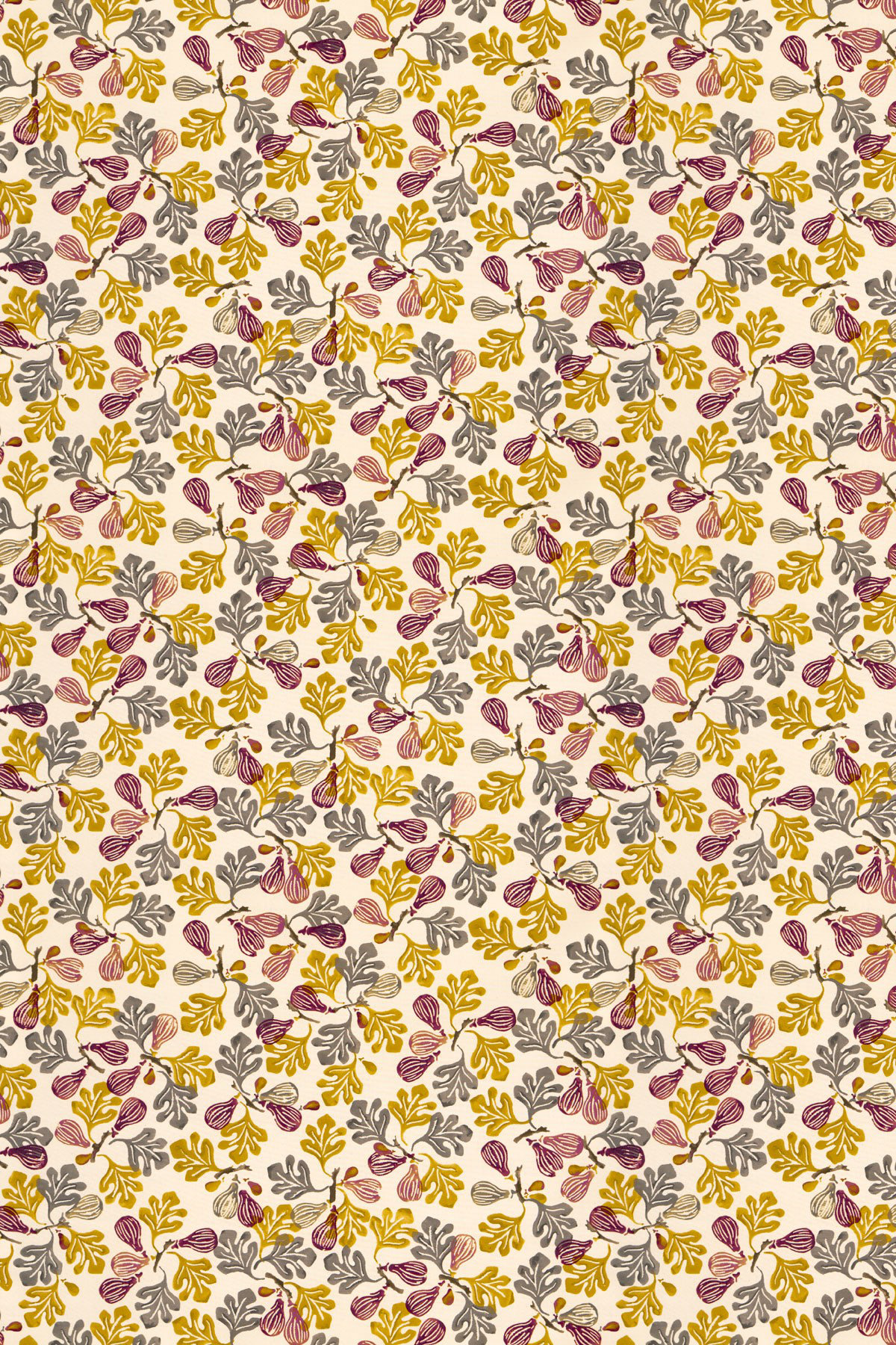 Image of Emma Bridgewater Fabric Figs Red/Ochre, 223426