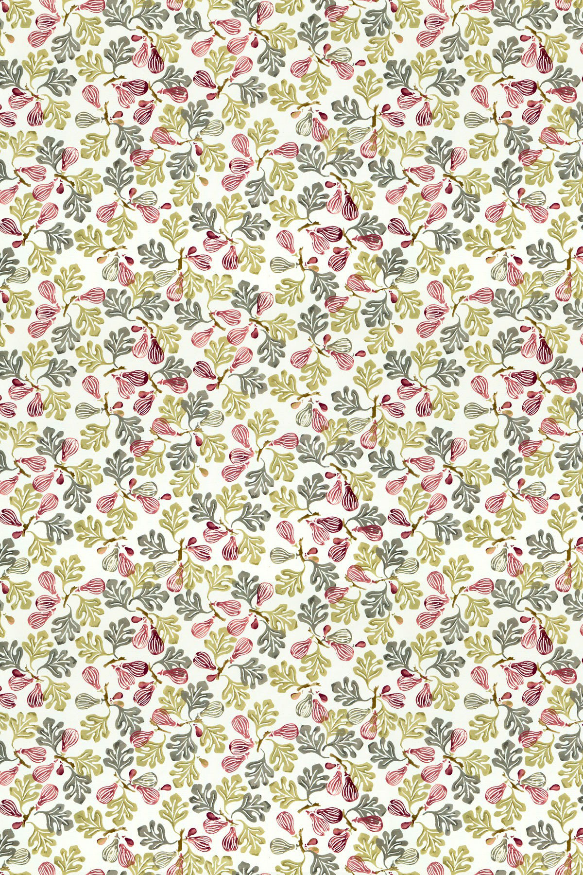 Image of Emma Bridgewater Fabric Figs Rose Pink/Moss, 223427