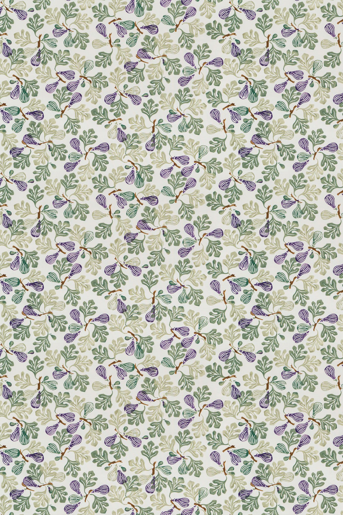 Image of Emma Bridgewater Fabric Figs Purple/Green, 223428