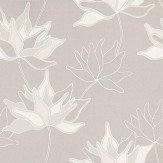 Duro Klocklilja Metallic Silver / Off White / Taupe Wallpaper