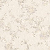Albany Satin Charm Lilac / Off White Wallpaper