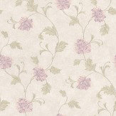 Albany Satin Charm Lilac / Green / Off White Wallpaper